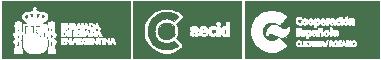 Logos Embajada de España, Aecid y Cooperación Española